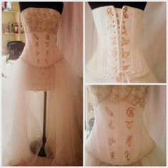 Gold rune laced wedding dress inspired by TMI books