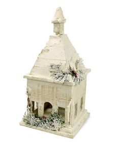 Another great find on #zulily! Snowy Wood Birdhouse #zulilyfinds