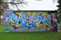 graffiti, Woodford Park, Woodley