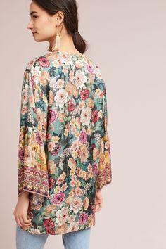 Slide View: 4: Rachelle Silk Kimono Long Kimono, Silk Kimono, Kimono Top, Long Shorts, Light Jacket, Kimono Fashion, Summer Outfits, Summer Clothes, Beautiful Outfits