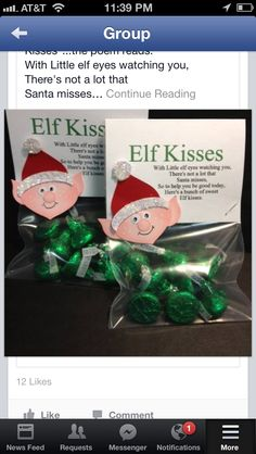 """Elf kisses or you can write """"elf droppings"""""""