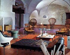 Interior design, decoration, loft, furniture,  1971
