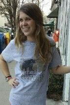Women's T-shirt gray - Short sleeve - spring style fashion @ Black Bear Trading Asheville N.C.