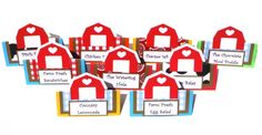 Items similar to 13 Barn Tent Style Food Table Label's / Name Cards Farm Animal Party Themed on Etsy Farm Party Decorations, Table Labels, Farm Animal Party, Tractor Birthday, Country Farm, Name Cards, Farm Animals, Tent, Barn