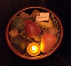 Primitive Christmas Lights Bowl Fillers by Countrybabiesusa