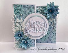 Birthday Card Design, Birthday Cards, Flower Cards, Paper Flowers, Chloes Creative Cards, Stamps By Chloe, Clematis Flower, Handicraft, Card Making