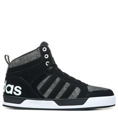 Adidas Men\u0027s Neo Raleigh 9TIS High Top Sneakers (Black/Black/White)