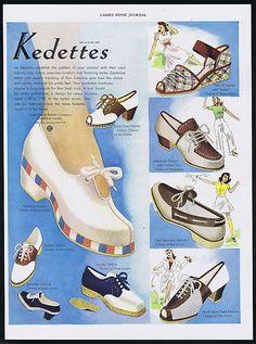 9cf0e5309804 1940 Women s Kedettes Shoes United States Rubber Co Vintage Print Ad