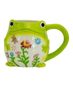 Look at this Floral Frog Mug on #zulily today!