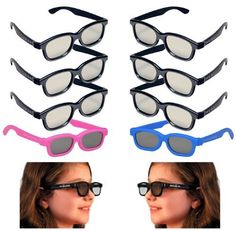 10 Pairs - OFFICIAL REALD 3D GLASSES PACK - (4 Kids and 6 Adult) dd4e1342af