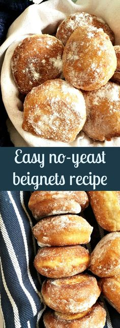 Easy no-yeast beignets recipe with a touch of vanilla, cinnamon and lemon, or the best fried doughnuts, the Romanian way. So simple, no need to wait for the dough to prove, ready in less than 15 minutes. And that's how l like things done!!!