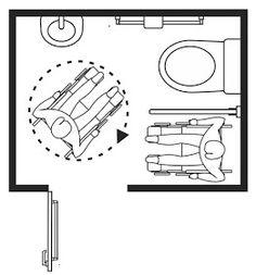 Wheelchair Access Penang (wapenang): Toilet (WC) For Disabled People Handicap Toilet, Handicap Bathroom, Toilet Logo, New Toilet, Wc Design, Toilet Design, Bathroom Drawing, Toilet Plan, Disabled Bathroom