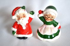Santa and Mrs. Claus Salt and Pepper Shaker