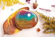 Hey, I found this really awesome Etsy listing at https://www.etsy.com/listing/483237653/autumn-sky-painted-rock-medium-hand