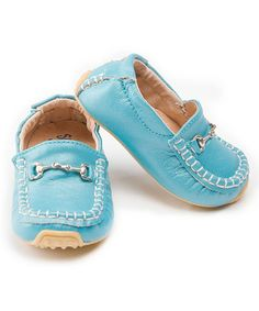 LOVE - Take a look at this Turquoise Moccasin by SKEANIE on #zulily today!