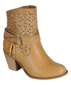 Look what I found on #zulily! Camel Zipper Luciana Boot #zulilyfinds