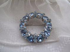 Warner Baby Blue Vintage Brooch by mimiyaya on Etsy, $35.00