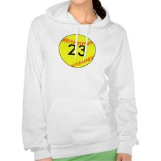 Custom #Softball Sweatshirts on Zazzle. Add your own jersey number!