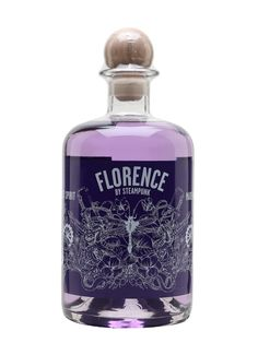 Florence was the first scented gin from the Northumberland Gin Co., named after its first still, and is violet-flavoured. The signature serve is in a glass with ice, tonic and blueberries. Liquor Bottles, Vodka Bottle, Perfume Bottles, Gin Cocktail Recipes, Cocktails, Gin Juniper, 21st Birthday Checklist, Brewery Design, Gin Brands