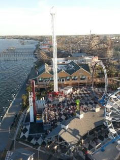 The Kemah boardwalk is essentially an amusement park featuring