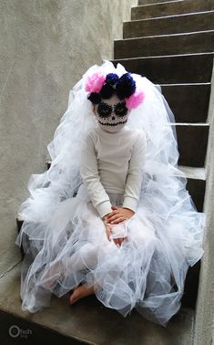 Ohoh Blog - diy and crafts: DIY Halloween costume: The sugar skull bride