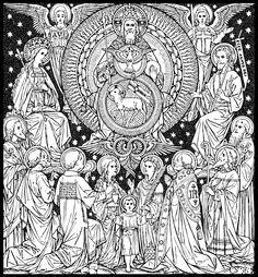 Daughter of the King, Catholic line art - part 2 via Corpus Christi...