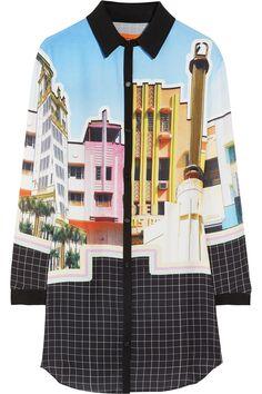 Clover Canyon|Printed crepe de chine tunic dress|NET-A-PORTER.COM