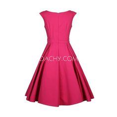 Sweet Off-shoulder Short Sleeves A-line Tea-length Women Dress Zipper 2017 - OACHY The Boutique #length, #boutique, #short, #oachy, #shoulder