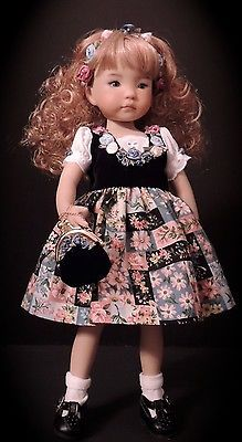 "Alpine Dress, Flower Headband & Purse - fits Dianna Effner 13"" Little Darling"