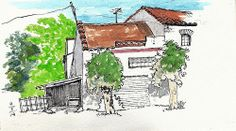 Horno de Alcedo, casas viejas junta a la V31 by Josep Castellanos.