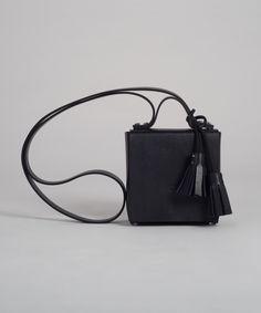 Black MECANO Nº3 by LESS BORE #handmade #eco #Leather #cowhide #luxury #LessBore #handbag #slowfashion