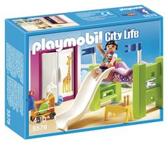 Amazon.com: PLAYMOBIL Children's Room with Loft, Bed & Slide Set: Toys & Games
