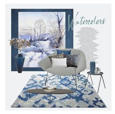 """""""Winter Watercolours"""" by ollie-and-me ❤ liked on Polyvore featuring interior, interiors, interior design, home, home decor, interior decorating, ESPRIT, Afteroom, Crate and Barrel and NKUKU"""