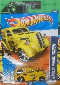 "2011 Hot Wheels 138/244 - HW Performance '11 8/10 - Anglia Panel Truck (Yellow) by Hotwheels ; Mattel. $0.31. yellow color with black details, ""Mooneyes"" and sponsors deco. for ages 3 and up. Anglia Panel Truck, #138 of 244. 2011 Hot Wheels HW Performance '11 series, #8 of 10. 1/64 scale die cast. This is a 2011 Hot Wheels HW Performance Anglia Panel Truck found on a Green Lantern card. 138/244."