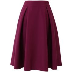 Chicwish Full A-line Midi Skirt in Violet