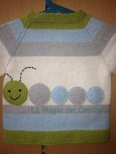 """277e56e3857530c08268cec3deb40f68.jpg (720×960) [   """"Love this caterpillar motif!"""" ] #<br/> # #Baby #Knitting,<br/> # #Knitting #Ideas,<br/> # #Baby #Patterns,<br/> # #Hungry #Caterpillar,<br/> # #Crochet #Tops,<br/> # #Hungry #Hungry,<br/> # #Layette,<br/> # #Kid,<br/> # #Shoes<br/>"""
