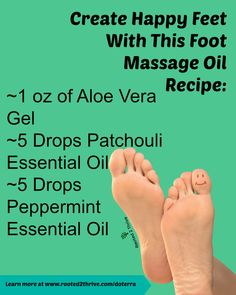 Revive your feet with this massage oil that combines aloe, patchouli, and peppermint. Patchouli Oil, Patchouli Essential Oil, Essential Oil Blends, Essential Oils, Foot Massage, Massage Oil, Aloe Vera Gel, Massage Therapy, Doterra