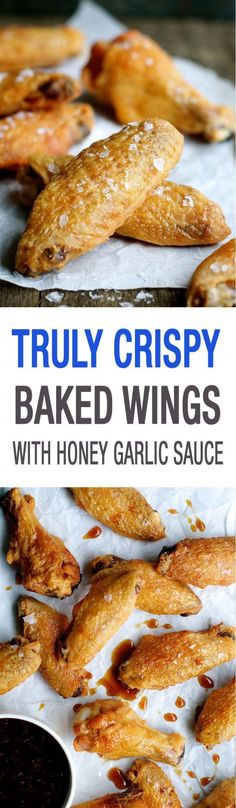 Truly Crispy Oven Baked Chicken Wings You will be SHOCKED how crispy these are. Super easy to make, a Cook's Illustrated recipe. And lower calories not just because they're baked but also because the fat is rendered out from baking at a low temperature! Frango Chicken, Fingers Food, Crispy Oven Baked Chicken, Fried Chicken, Cooks Illustrated Recipes, Honey Garlic Sauce, Recipetin Eats, Chicken Wing Recipes, Chicken Meals