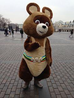 Misha, mascot of the 1980 Summer Olympics in Moscow #olympics #summerolympics