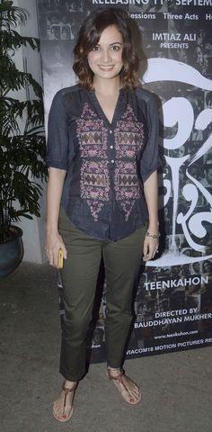 Dia Mirza at screening of #Bengali film 'Teenkahon'