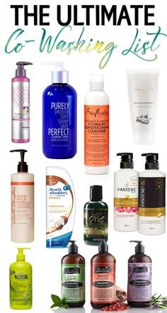 Ultimate Co-Washing List Trying to jump into the co-washing trend? Check out the Ultimate List of Co-Washing products to get you started!Trying to jump into the co-washing trend? Check out the Ultimate List of Co-Washing products to get you started! Pelo Natural, Natural Hair Tips, Natural Hair Journey, Natural Hair Growth, Natural Hair Styles, Natural Hair Products, Beauty Products, Natural Curls, Natural Life