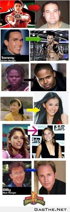 Power Rangers Then  Now...although that is not Trini