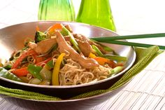 Easy dinner for the family: Chicken Chow Mein