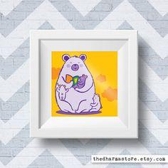 Momma bear print #NurseryPrint by thedharmastore