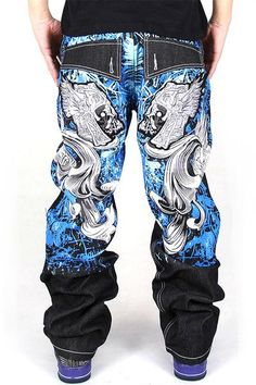 New Trendy Jeans Mens Loose Harem Pants Slightly Stretch Big Size Skateboard Baggy Jeans Male Trousres Cotton Superior Performance Jeans