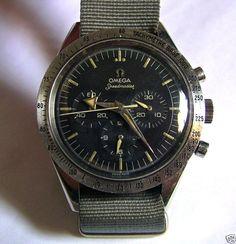 The first Speedmaster, 1957 Fancy Watches, Dream Watches, Luxury Watches, Cool Watches, Watches For Men, Vintage Omega, Vintage Rolex, Vintage Watches, Omega Railmaster