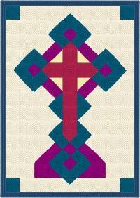 Irish Celtic Cross Quilt Afghan Blanket Crochet Pattern