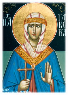 Glyceria the Martyr of Heraclea, Thrace. Holy Quotes, St G, Byzantine Icons, Religious Images, Orthodox Icons, Ikon, Christianity, Princess Zelda, Faith
