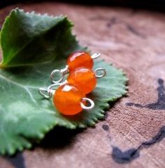 Wonderful Carnelian charms are great for earrings, necklaces and bracelets making. They will give a bright accent to any jewelry piece!    Silver...