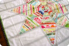 Selvage Star Quilt by TwinFibers